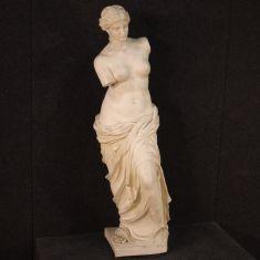 Statua polvere di marmo resina stile antico epoca 900
