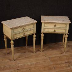 Mobili tavolini in legno stile antico piano in marmo epoca 900