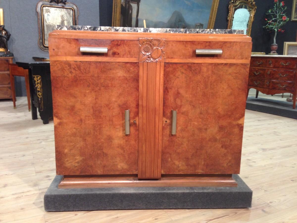 Credenza Con Piano In Marmo : Credenza francese in stile art deco con piano marmo vendita