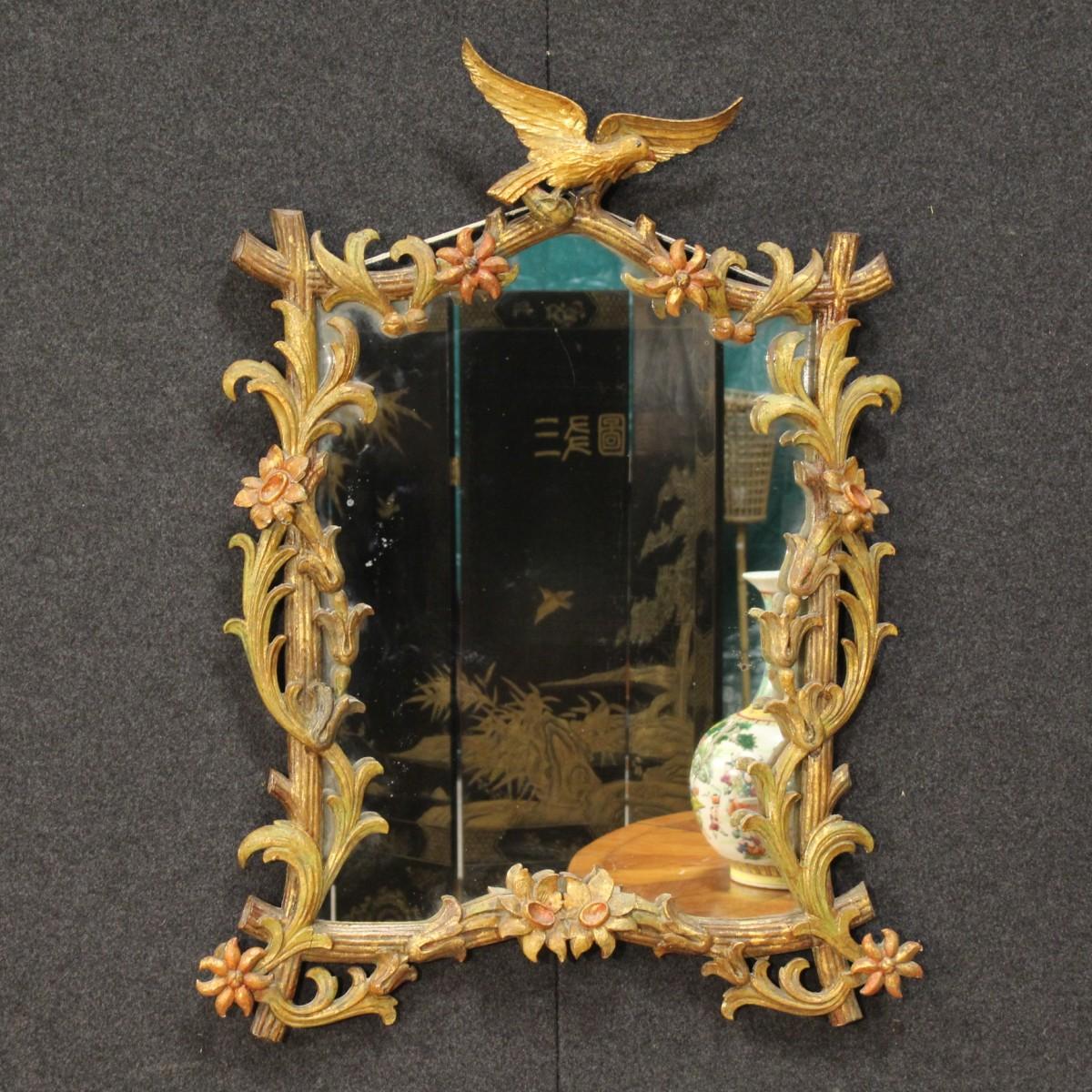 Specchiera dorata in stile liberty italiana del xx secolo - Art nouveau mobili ...
