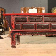 Tavolo console in legno dipinto epoca 800