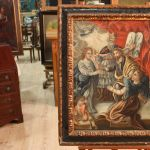 Antique religious Spanish painting from 18th century