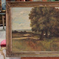 Antico dipinto olandese paesaggio del XIX secolo