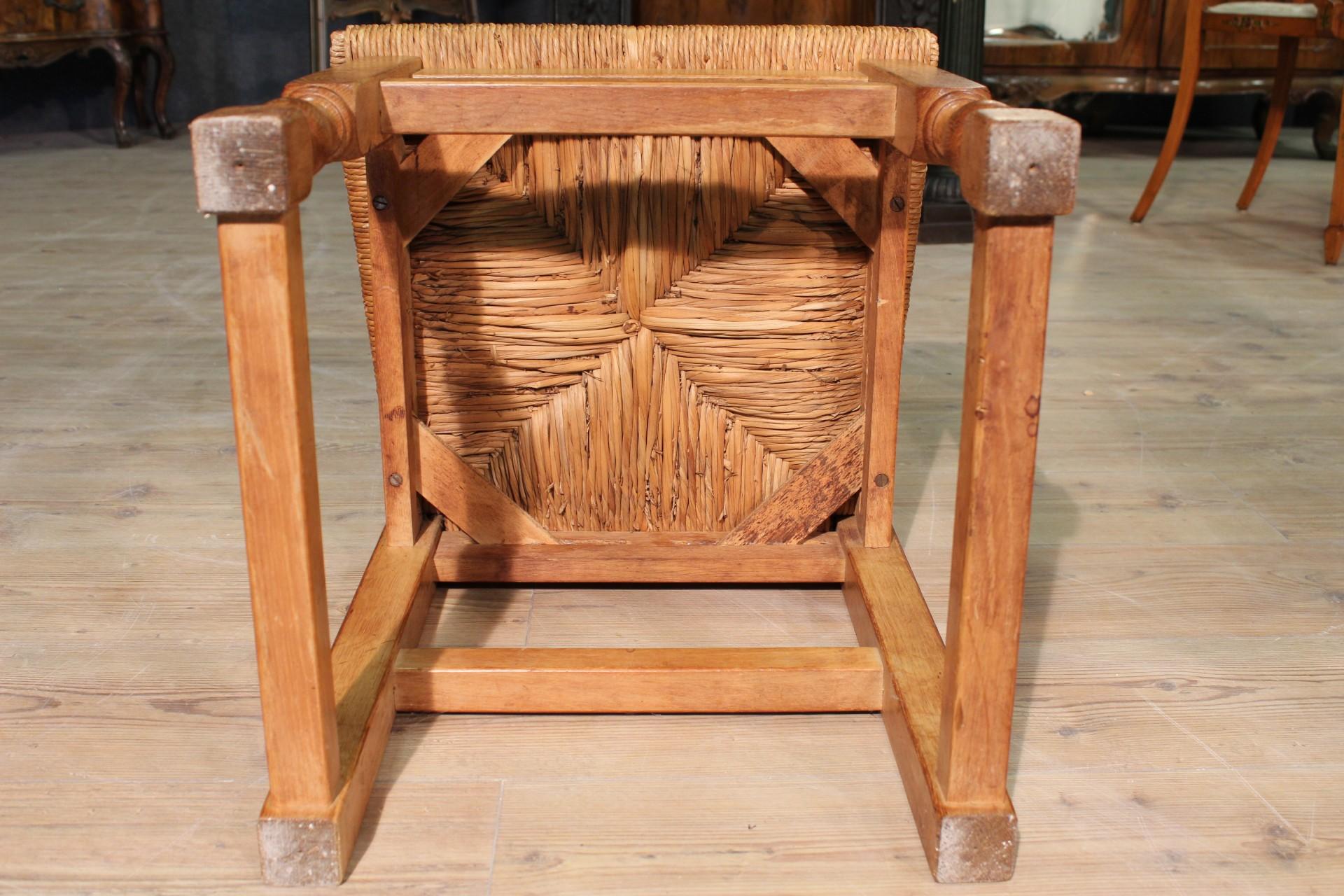 Annuncio gruppo di sedie in legno e paglia u nowarc
