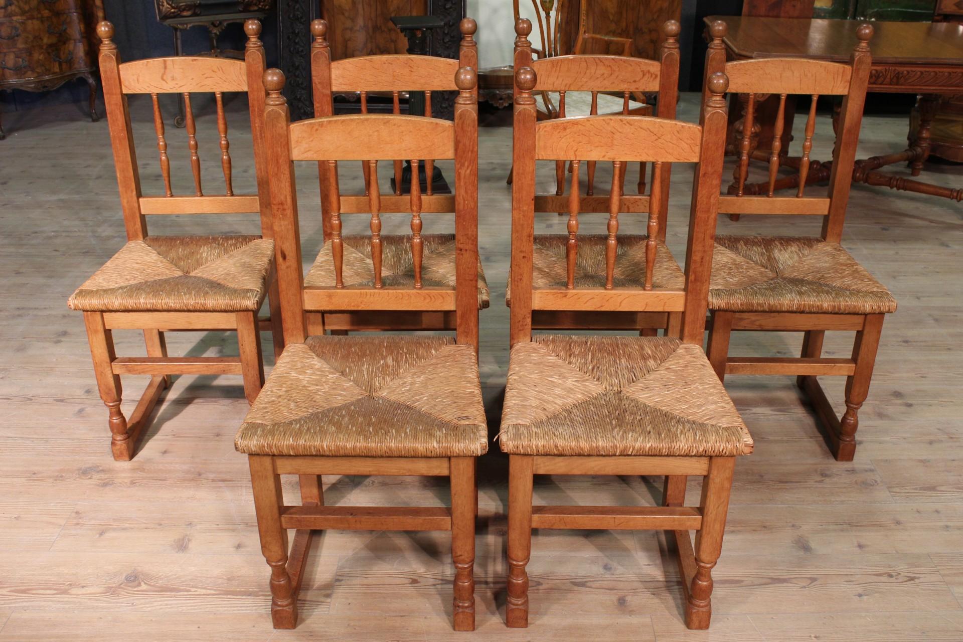 gruppe 6 stuhl rustikal sitzungen holz eichenholz stroh. Black Bedroom Furniture Sets. Home Design Ideas