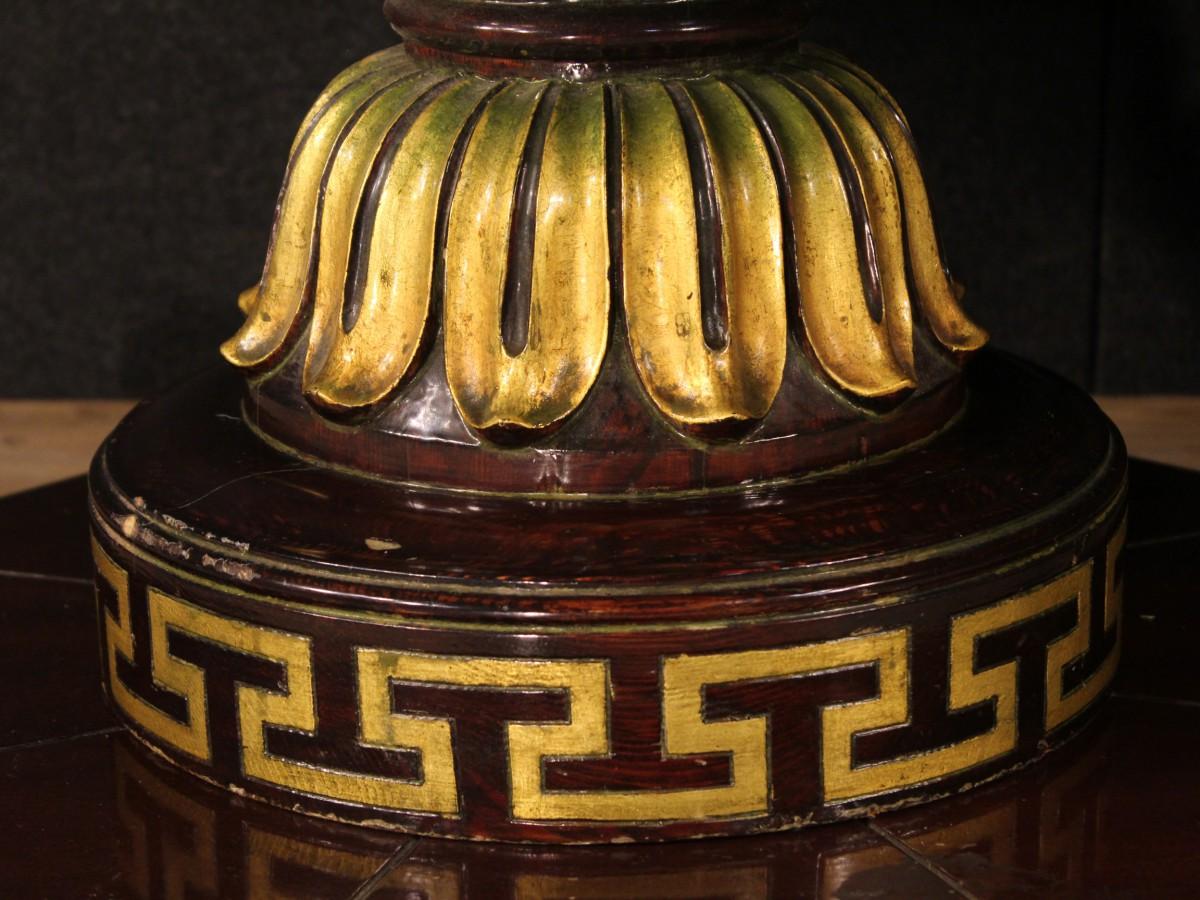Table bois verni d 39 or peinture espagnol style ancien 900 - Peinture pour bois verni ...