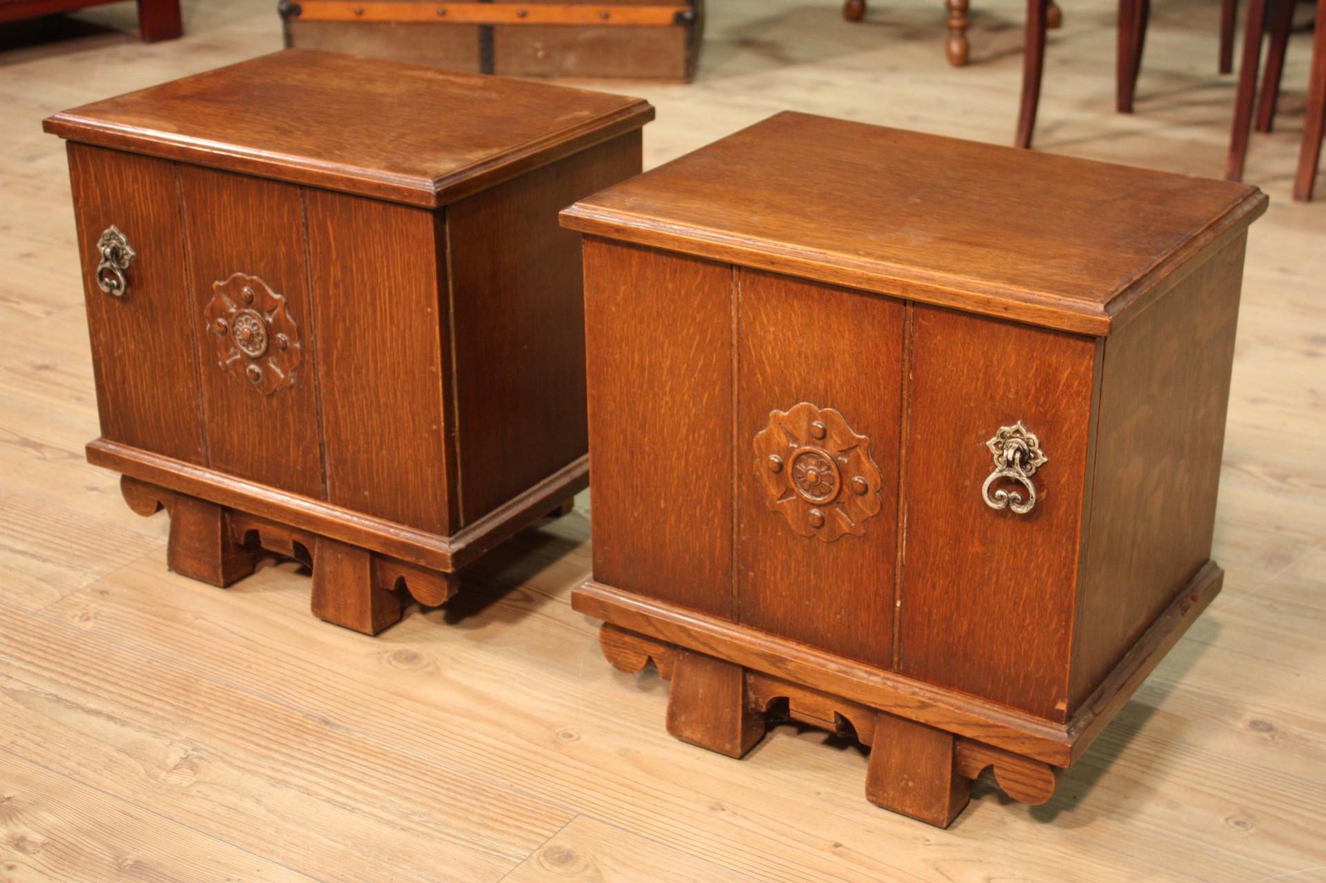Annuncio: Coppia di comodini olandesi in legno di rovere • NowArc