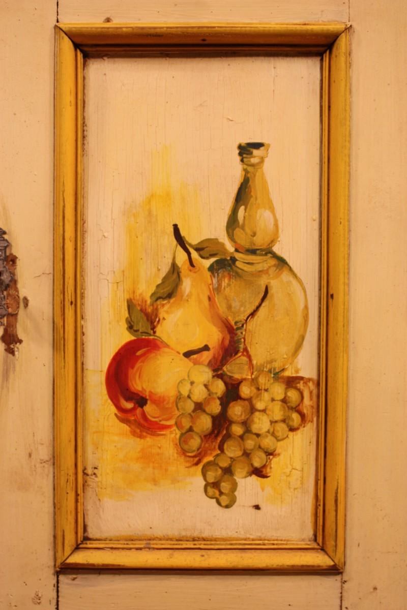 Credenza in legno laccato e dipinto - Immagine3