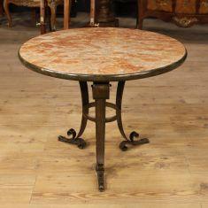 Tavolino da salotto Art Deco in ferro Italia epoca '900