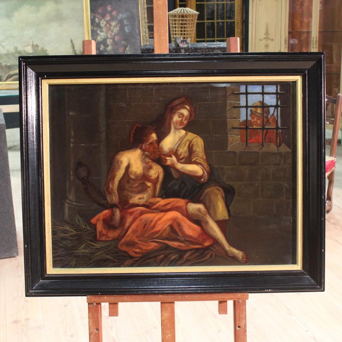 Annuncio dipinto francese la carit romana del xix for Piani di fattoria del 19 secolo