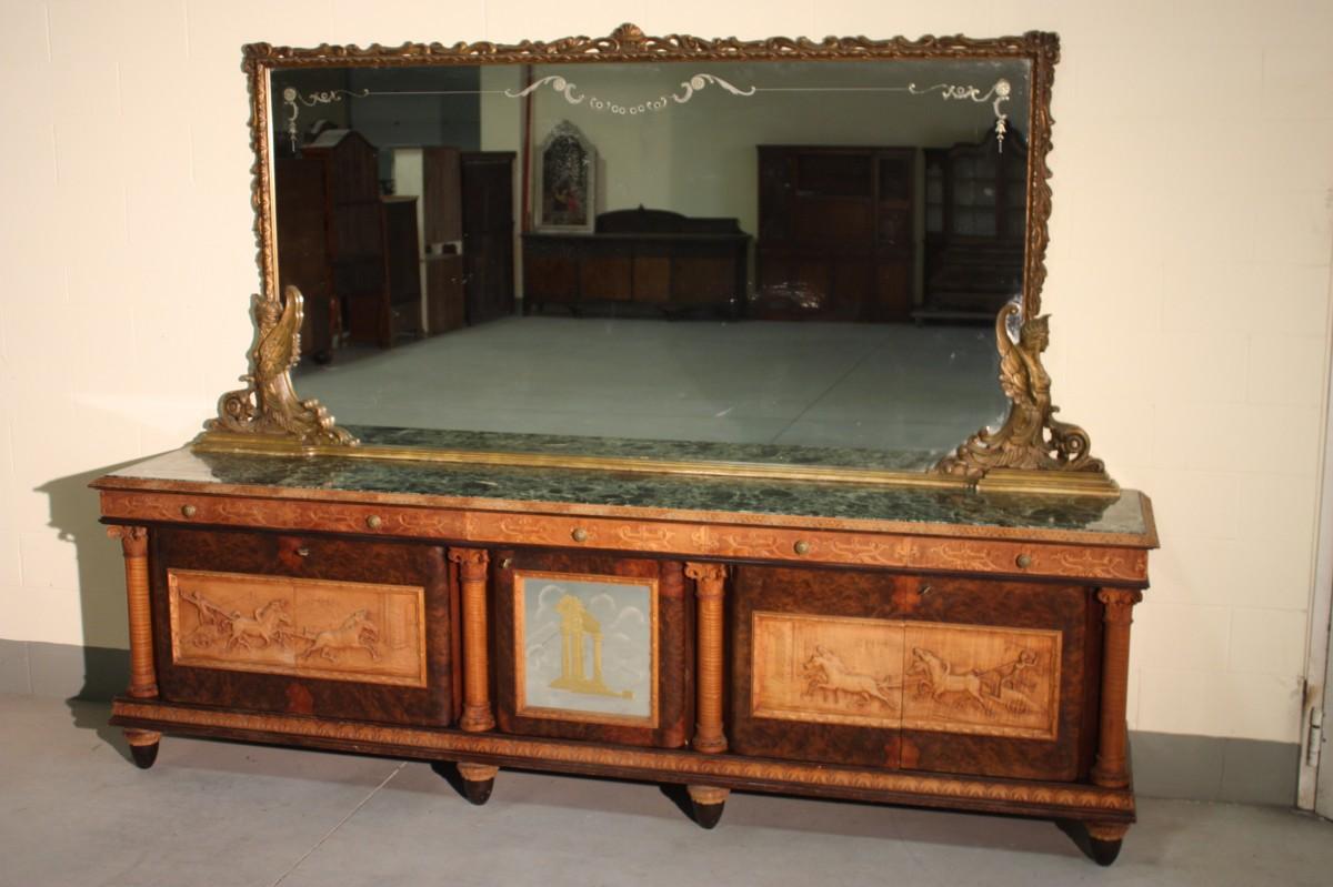 Piccola Credenza Rustica : Annuncio credenza italiana con specchiera piano in marmo u nowarc