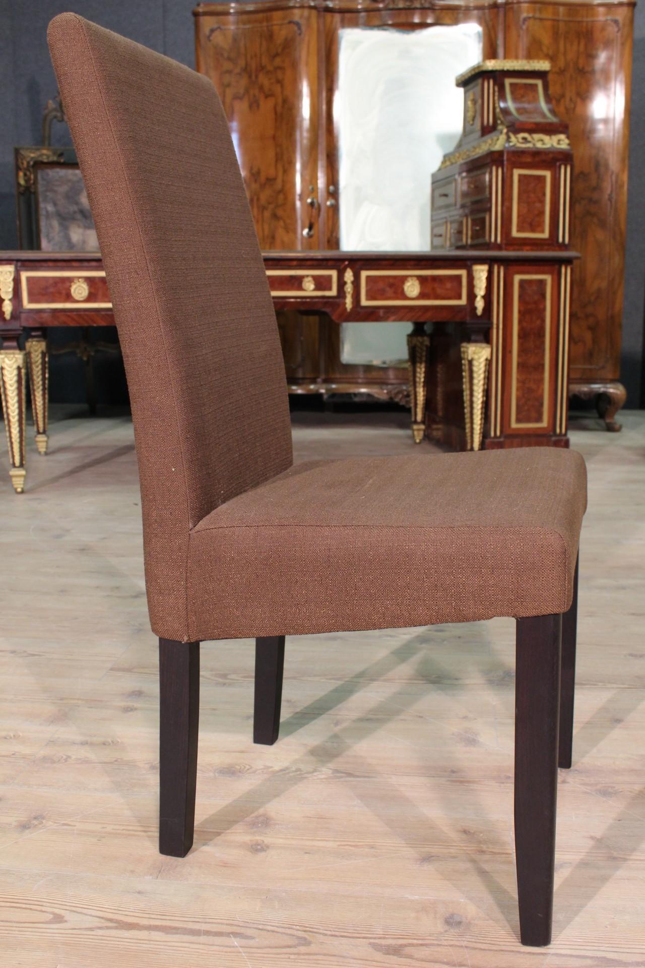 Annuncio: Gruppo di 6 sedie rivestite in tessuto • NowArc