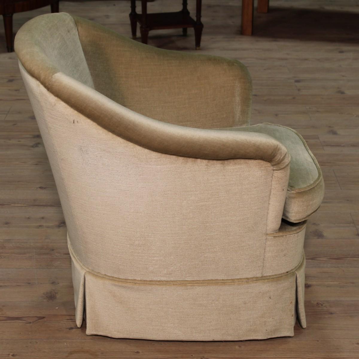 sessel stuhl franz sisch m bel gr n samt sofa wohnzimmer bude antik stil 900 xx ebay. Black Bedroom Furniture Sets. Home Design Ideas