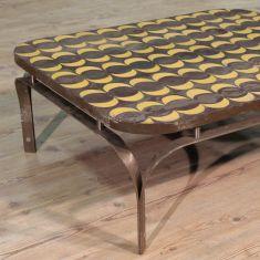 Tavolo basso in legno da salotto anni '80