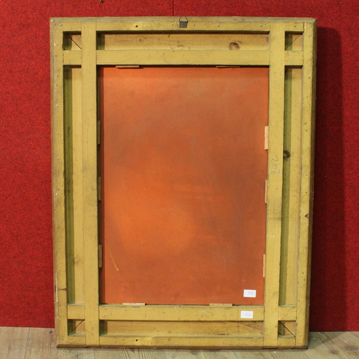 Specchiera legno gesso italiano specchio dorato scolpito - Specchio dorato antico ...