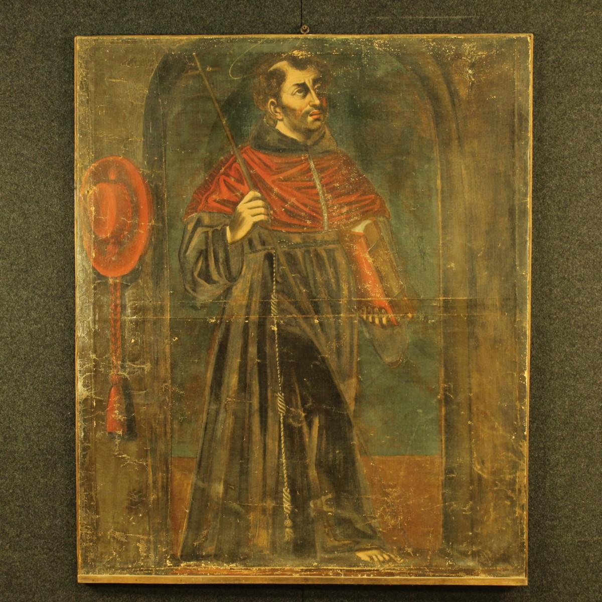 Dipinto francese frate con manto rosso del xix secolo for Piani di fattoria del 19 secolo