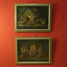 Coppia di quadri olio su tela spagnoli epoca 900