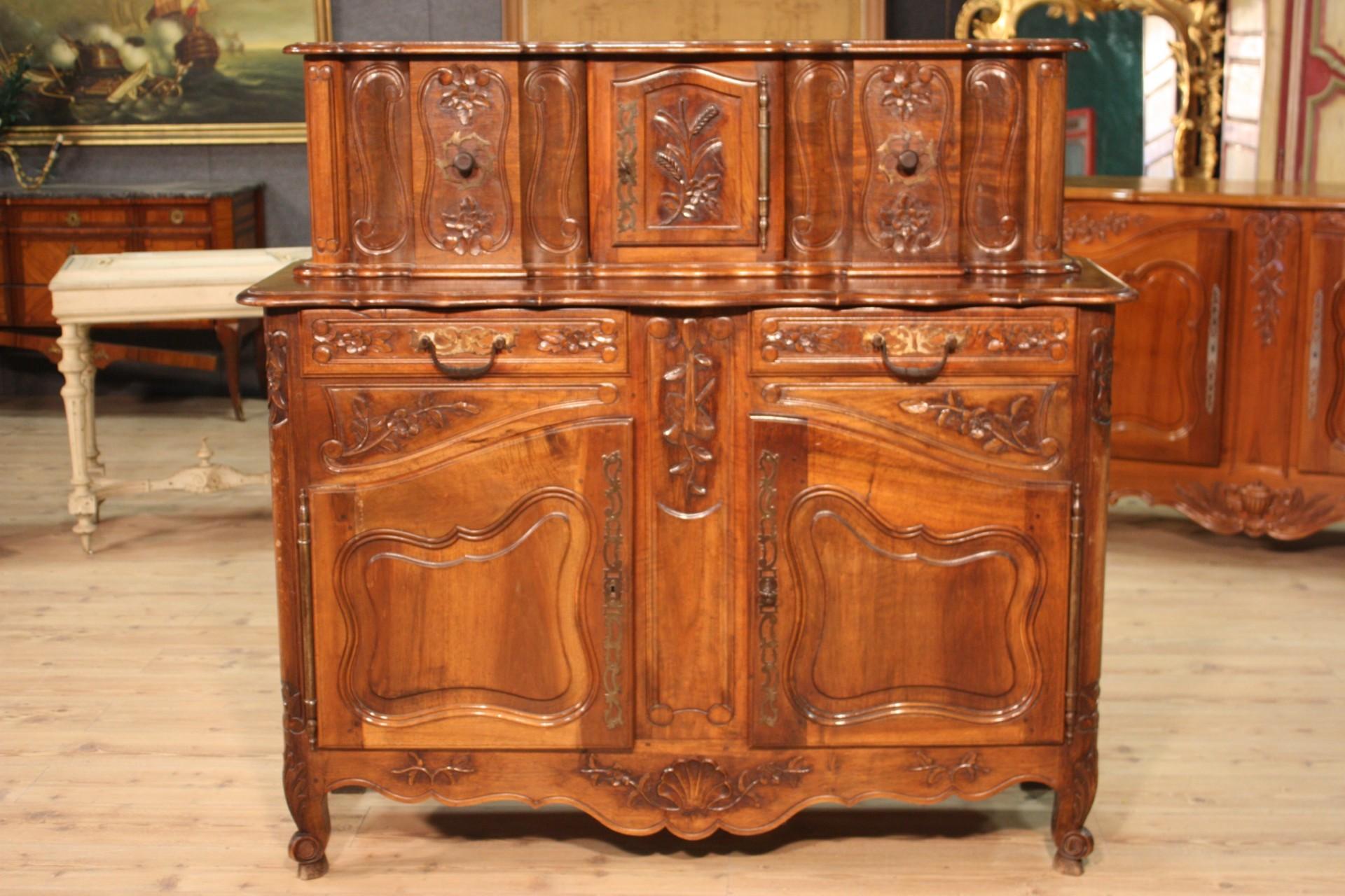 Credenza provenzale legno mobile doppio corpo 2 ante stile - Mobile credenza ...