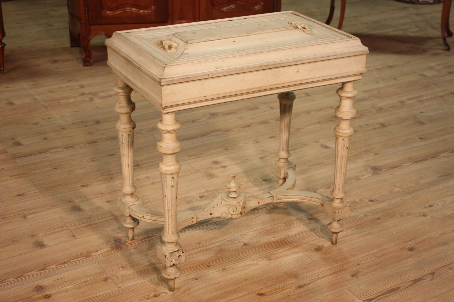 Tavolino antico legno laccato mobile tavolo da salotto ...