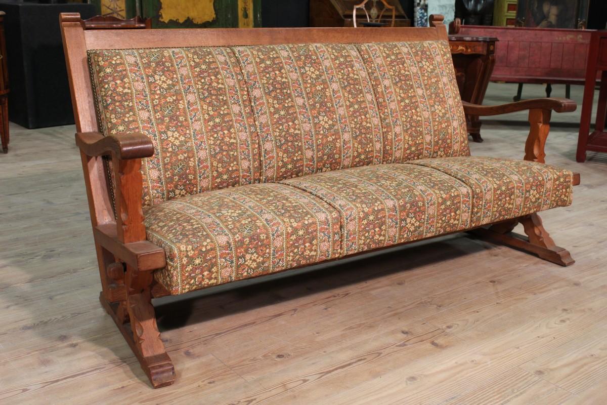 Annuncio divano rustico in legno di rovere nowarc for Divano rustico
