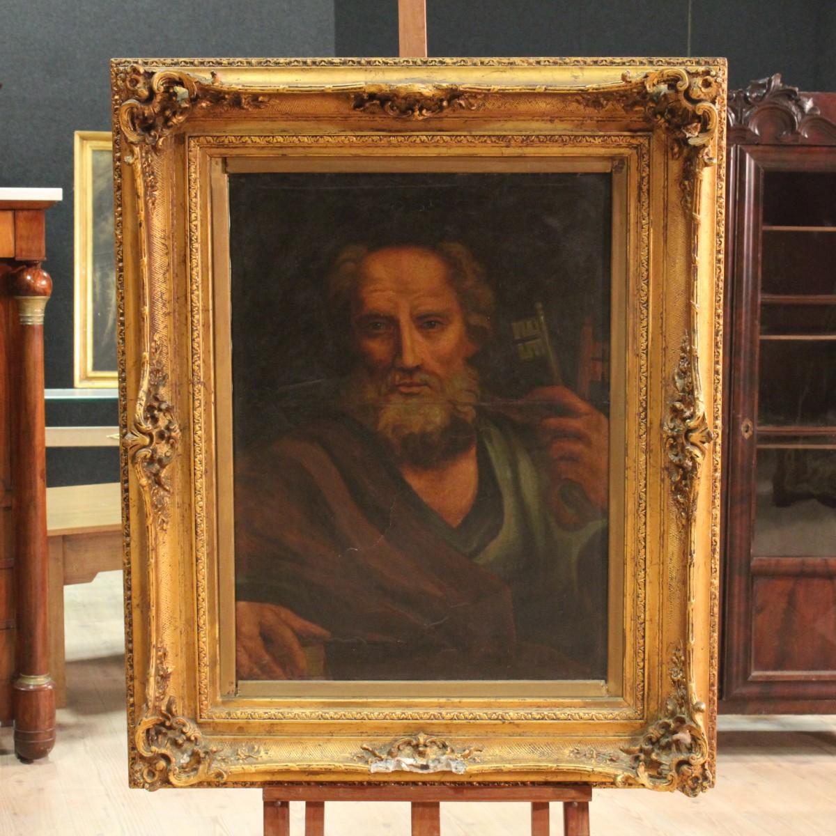 Antico dipinto francese ritratto san pietro dei primi del - Di pietro mobili ...