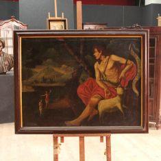 Quadro religioso olio su tela epoca 700