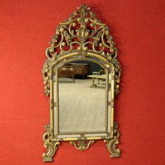 Grande specchiera scolpita e laccata Torino epoca '900