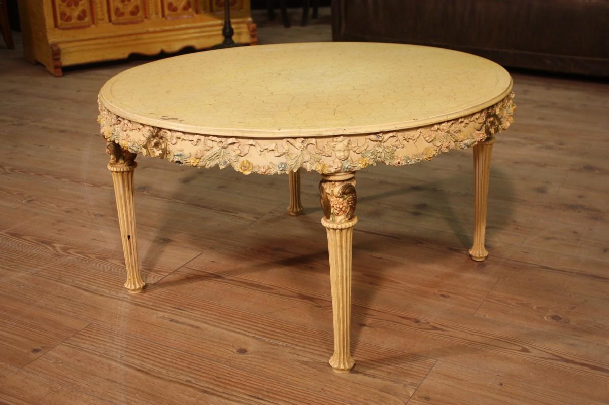 Tavolo basso da salotto laccato italiano del xx secolo - Tavolo da salotto ...