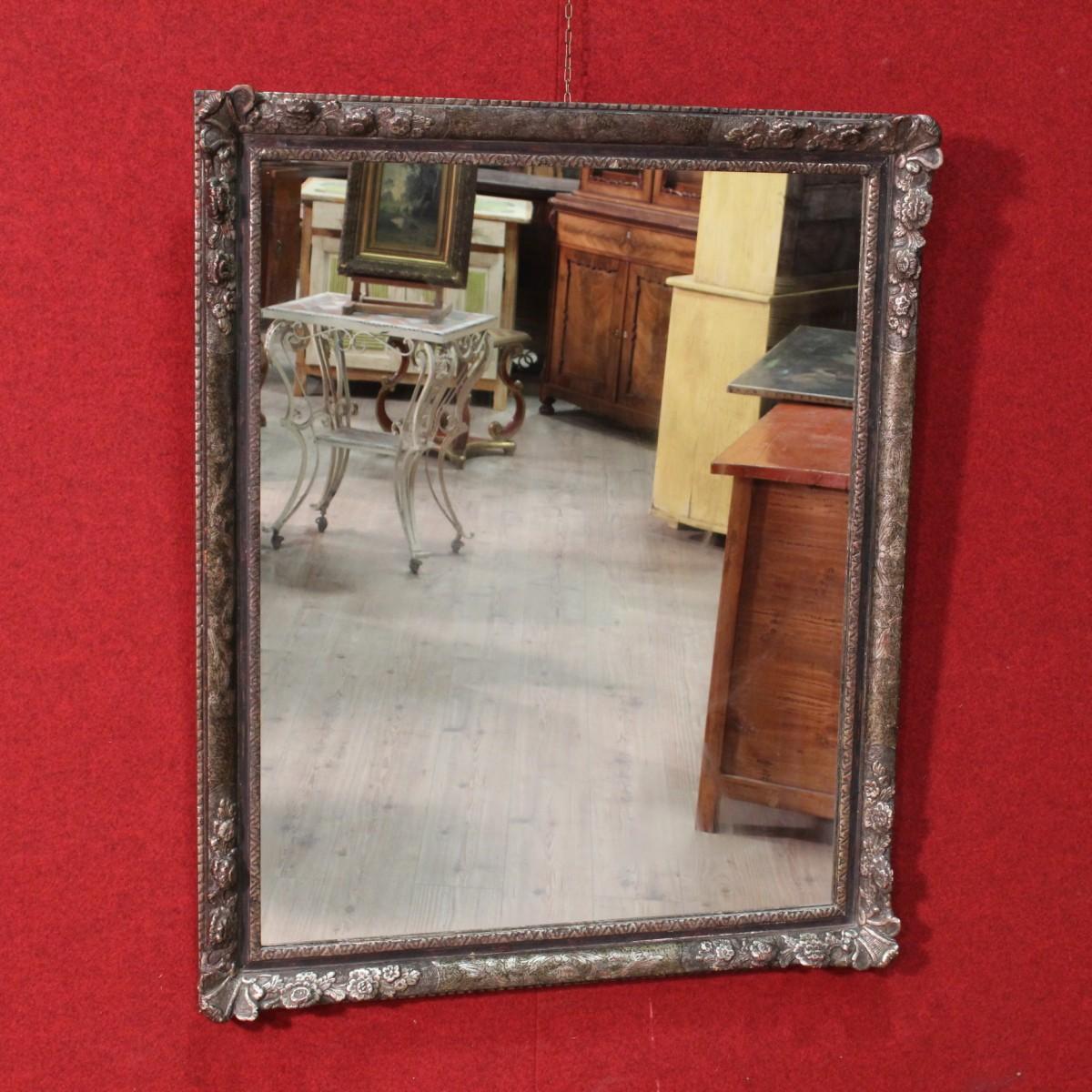 Specchiera francese in legno e gesso argentato del xx secolo - Specchio in francese ...