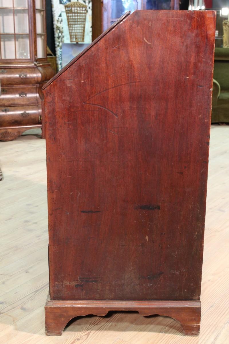 Annuncio antica ribalta inglese in legno di mogano del for Piani di fattoria del 19 secolo