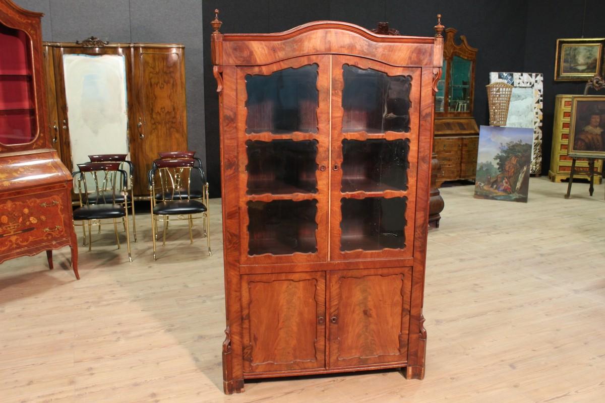 Credenza Vetrina Da Restaurare : Antica vetrina libreria olandese mogano mobile in legno credenza
