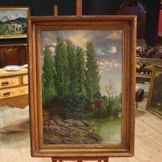Dipinto olio su tela firmato C. Coll e datato