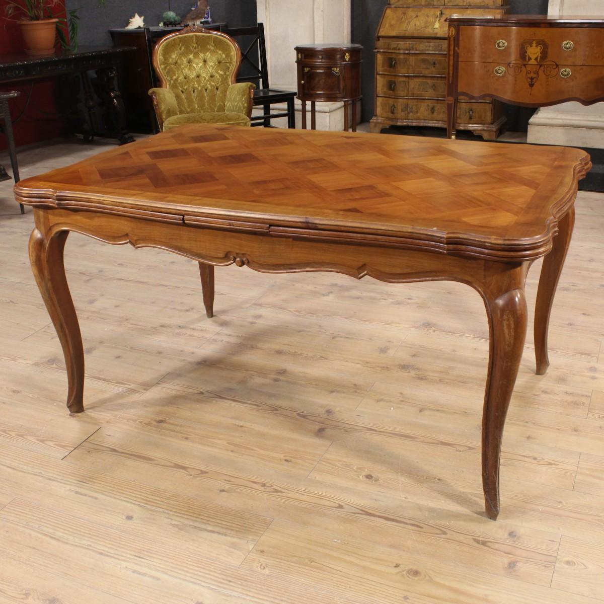 Grande tavolo da pranzo allungabile scolpito ciliegio provenzale francia 39 900 ebay - Tavolo da pranzo grande fratello ...