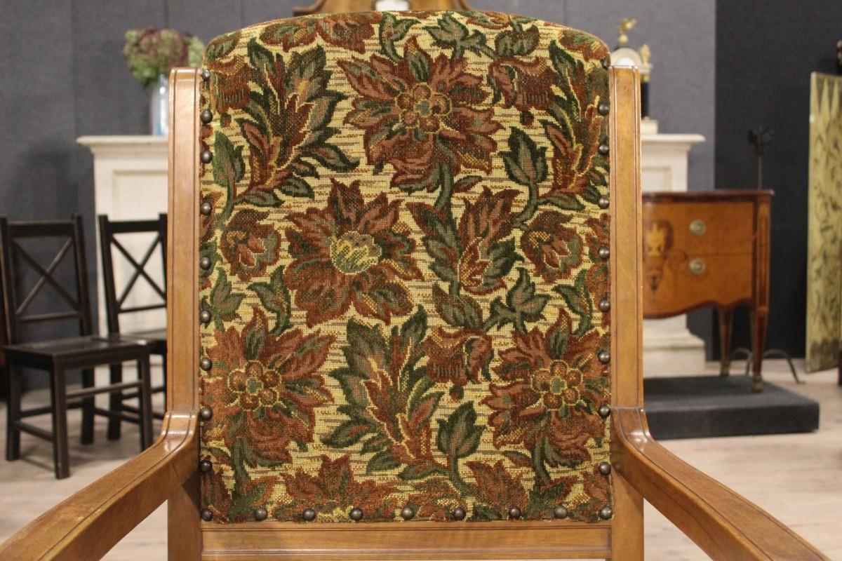 Gruppo 5 4 1 poltrone rustiche sedie in tessuto floreale for Poltrone rustiche