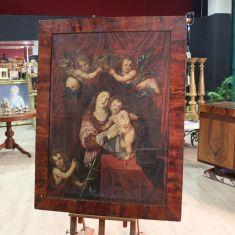 Quadro italiano olio su tela con cornice epoca 700