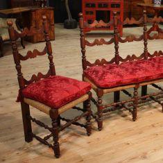 Antico divano e poltrone in legno epoca 800
