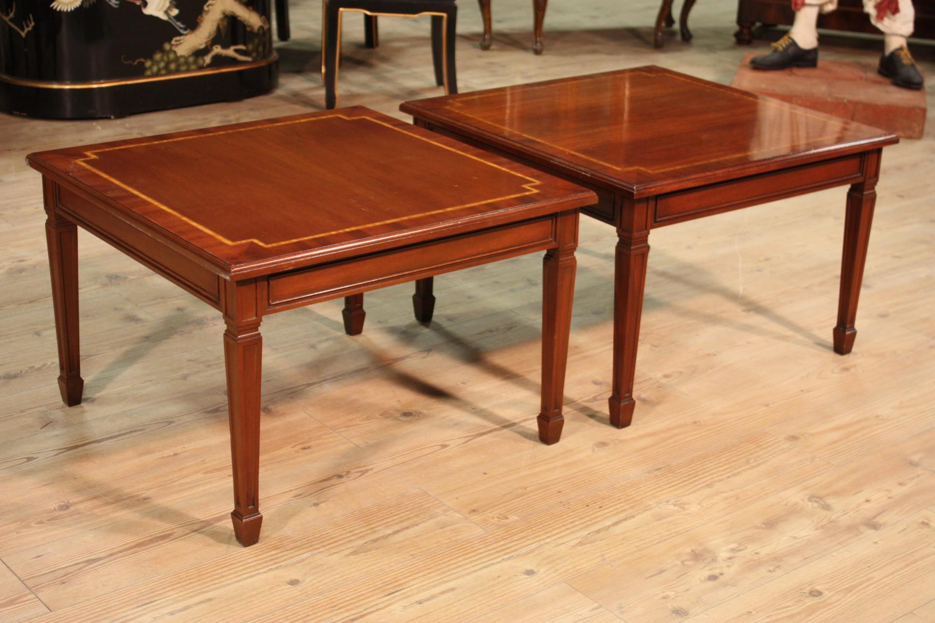 Annuncio: Coppia di tavolini in mogano stile Luigi XVI • NowArc