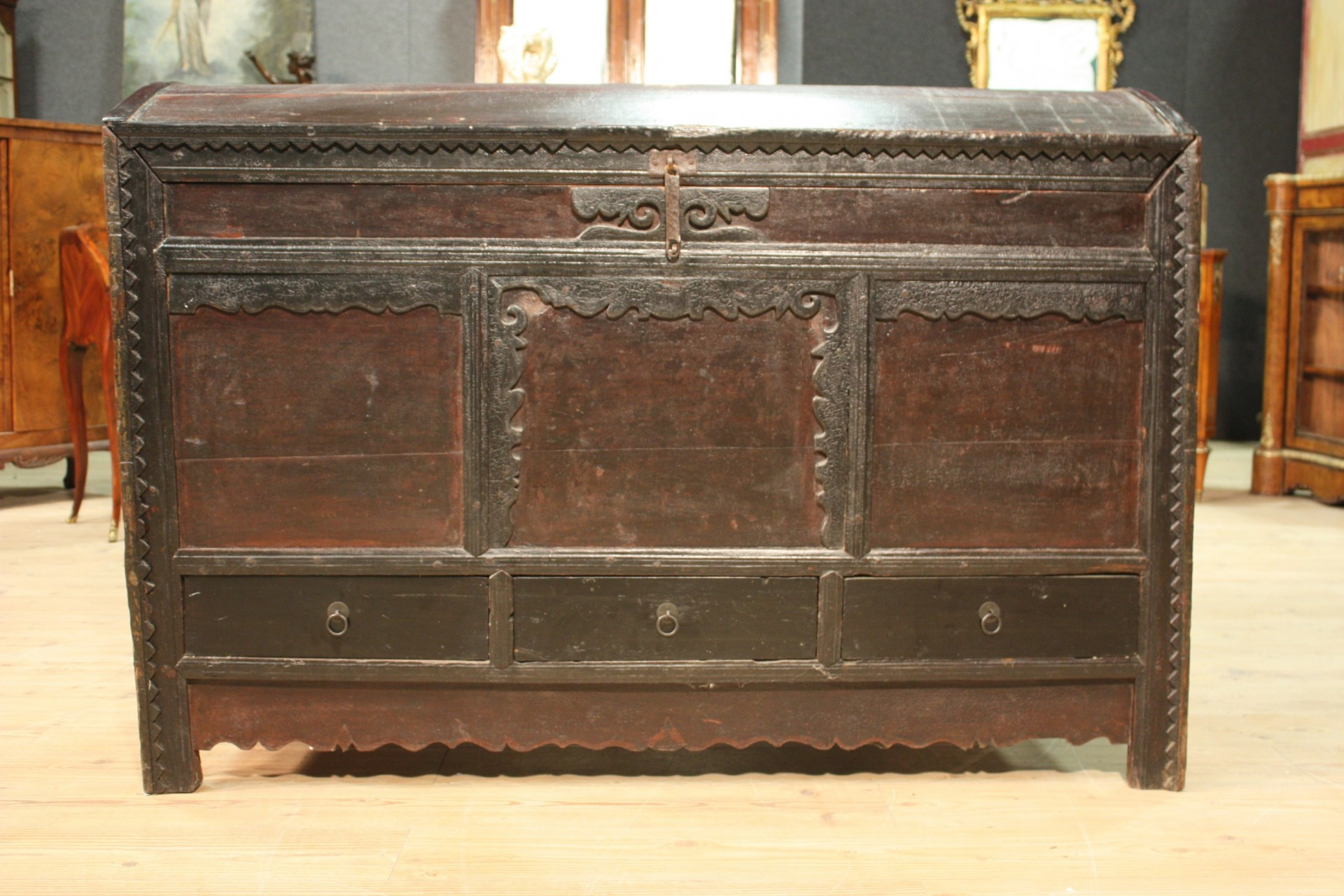 Rustic trunk eastern furniture wood antique style chest antiques 900  eBay