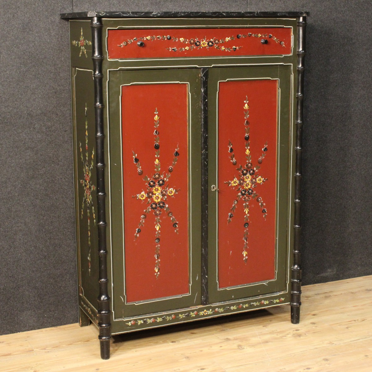 Dutch Hand-painted Cabinet