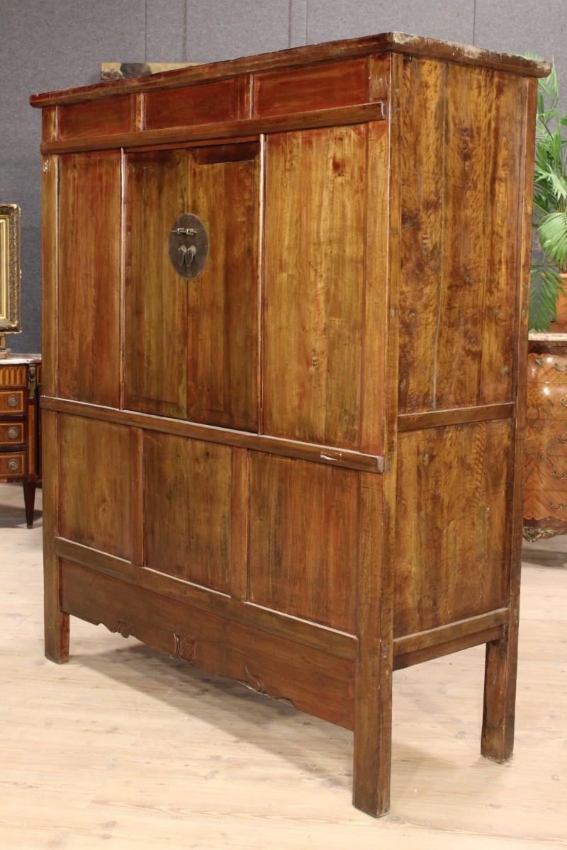 Armoire wardrobe oriental wood iron furniture cabinet for Chinese furniture ebay australia
