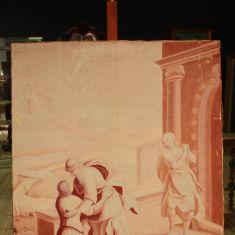Quadro arte sacra epoca 800