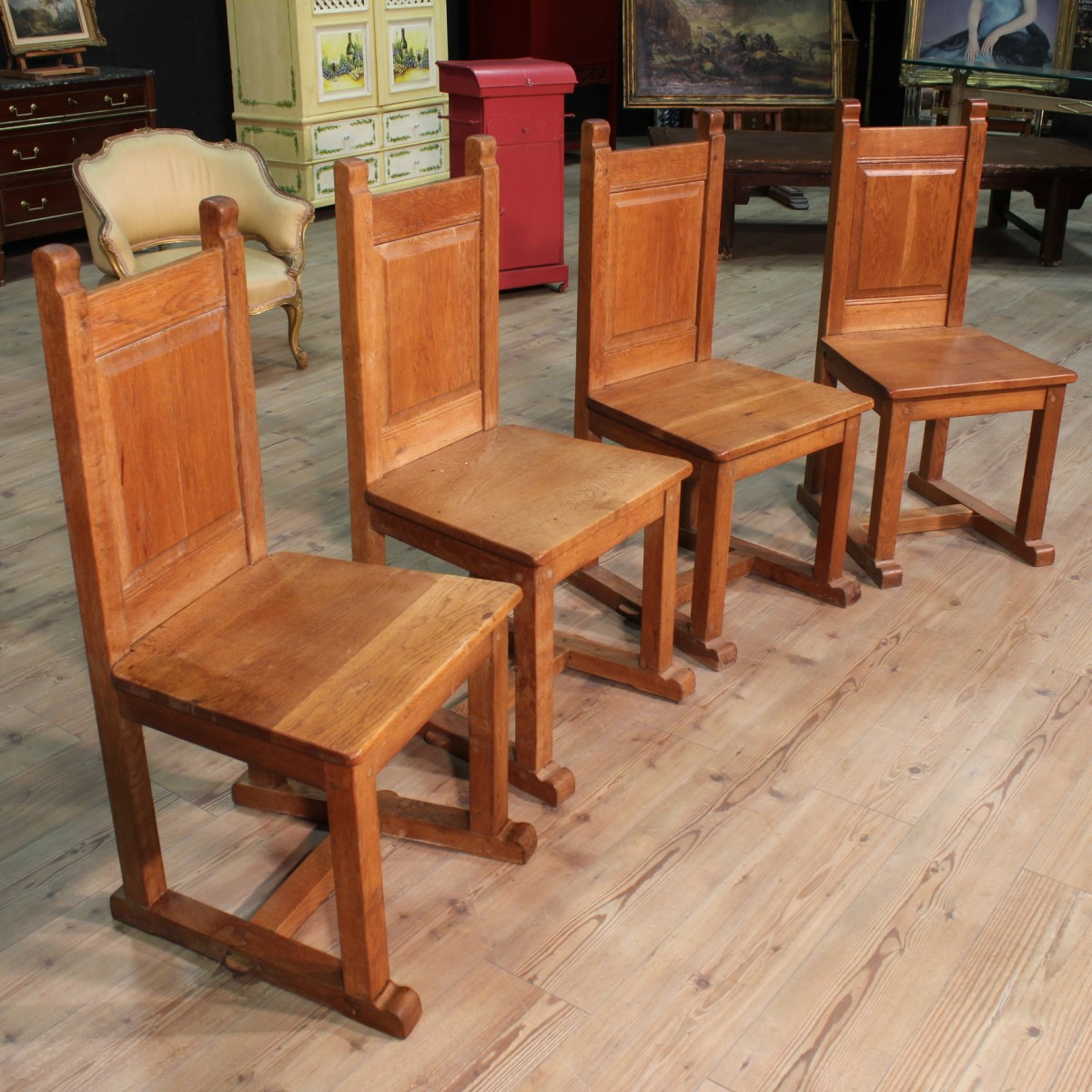 Sedie in rovere imbottita maspero with sedie in rovere for Sedie usate in vendita