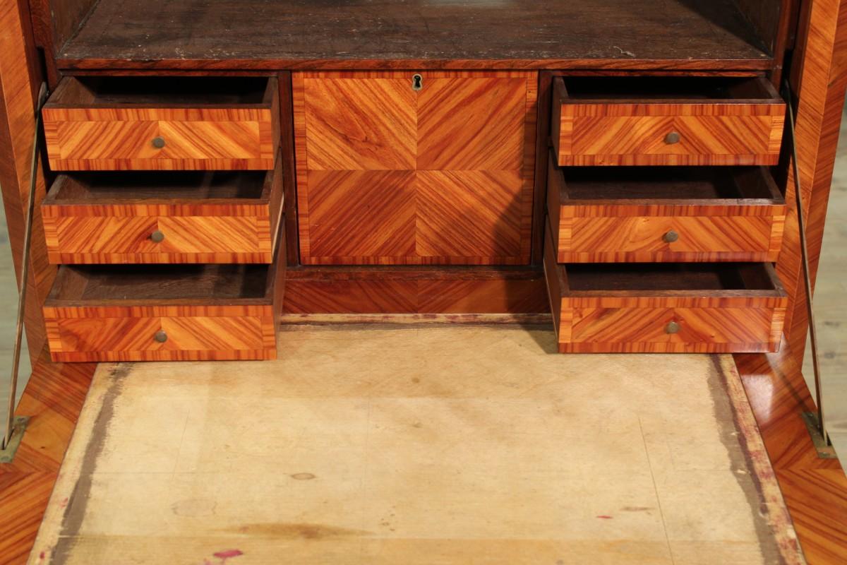 secr taire furniture bureau desk wood antique style marble top dresser ebay. Black Bedroom Furniture Sets. Home Design Ideas