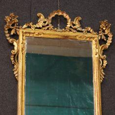 Specchio italiano con decorazioni epoca 900