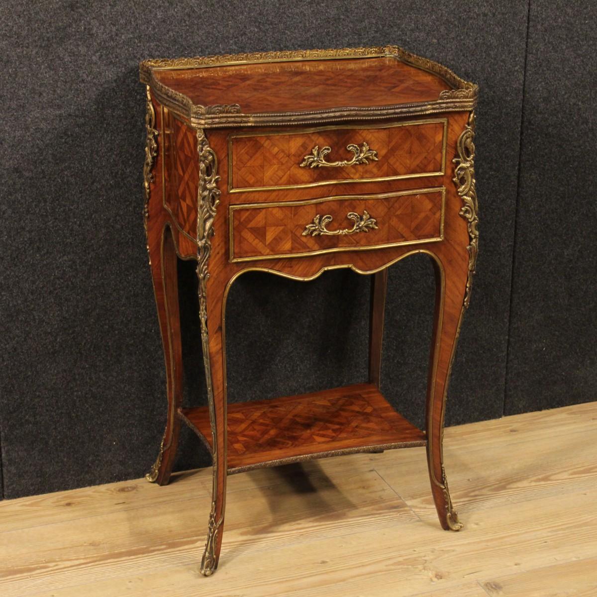 Tavolino francese comodino bois de rose bronzi epoca 39 900 - Tavolino comodino ...