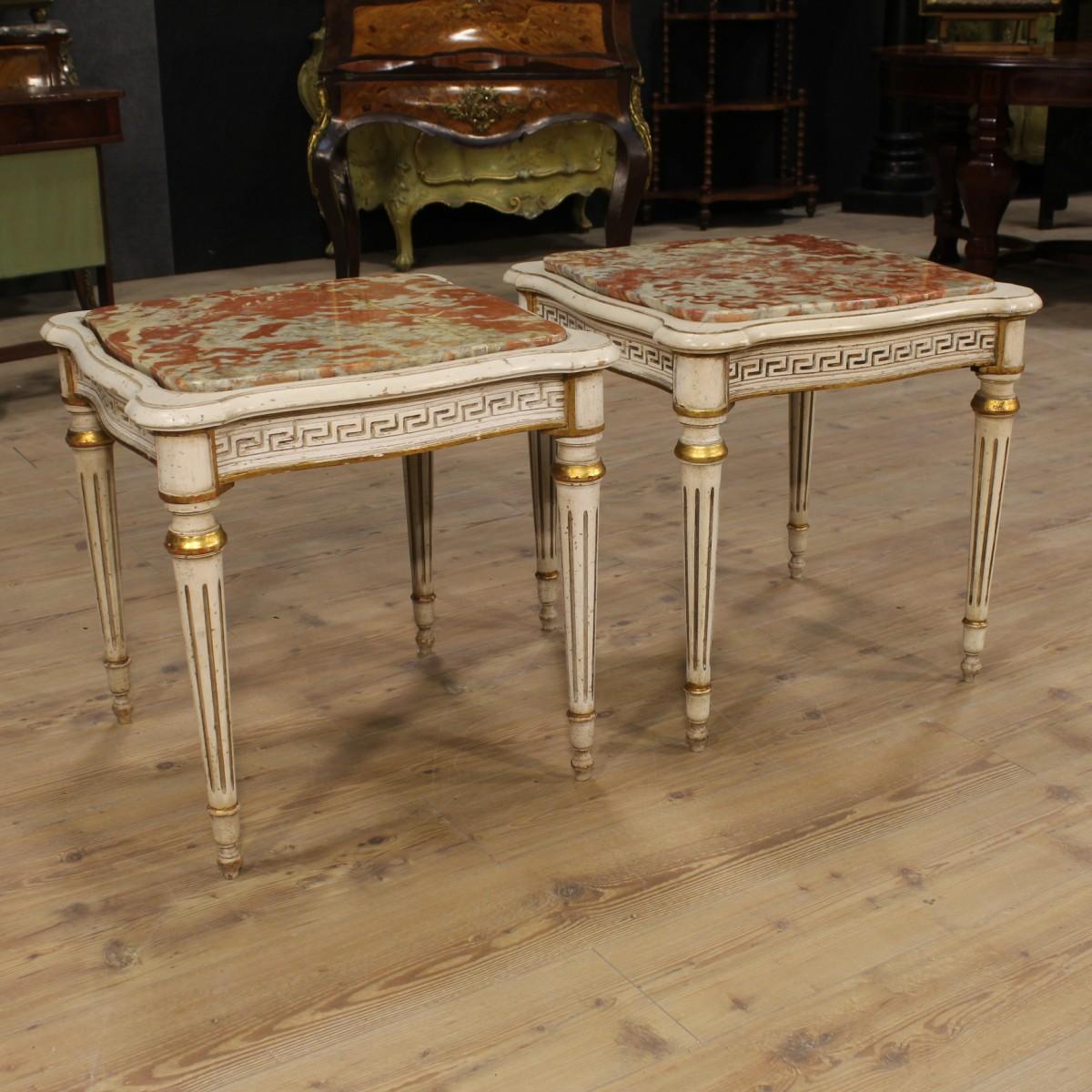 Dettagli Su Coppia Tavolini Da Salotto Moderni Laccati ...