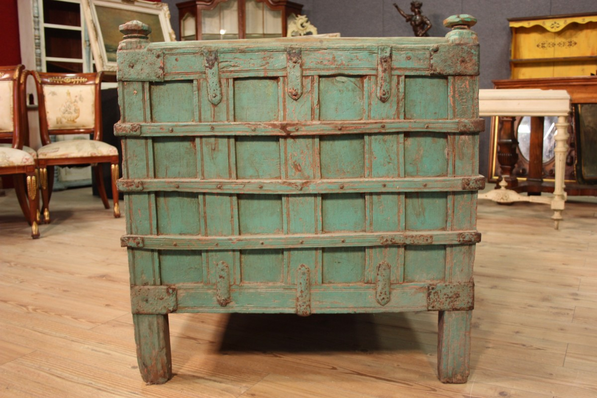 Sofa Indian mobil Truhe östlich in Holz lackiert Antik ...