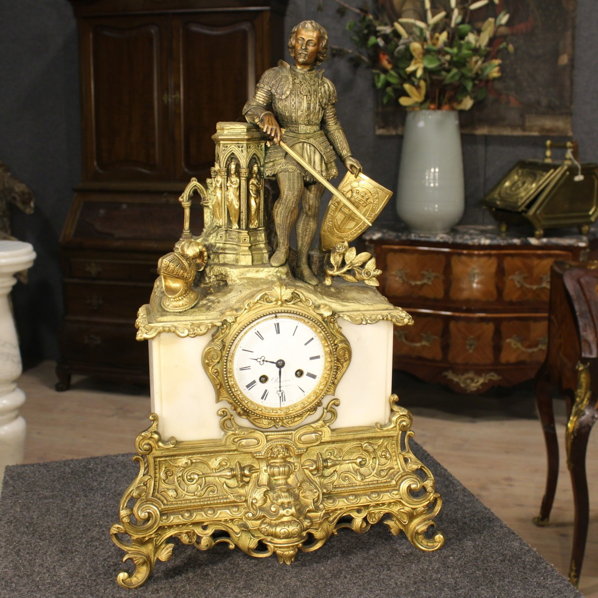 Orologio da tavolo pendolo pendule clock marmo bronzo francia epoca 39 800 ebay - Orologio a pendolo da tavolo ...