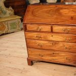 Antique English bureau in mahogany wood