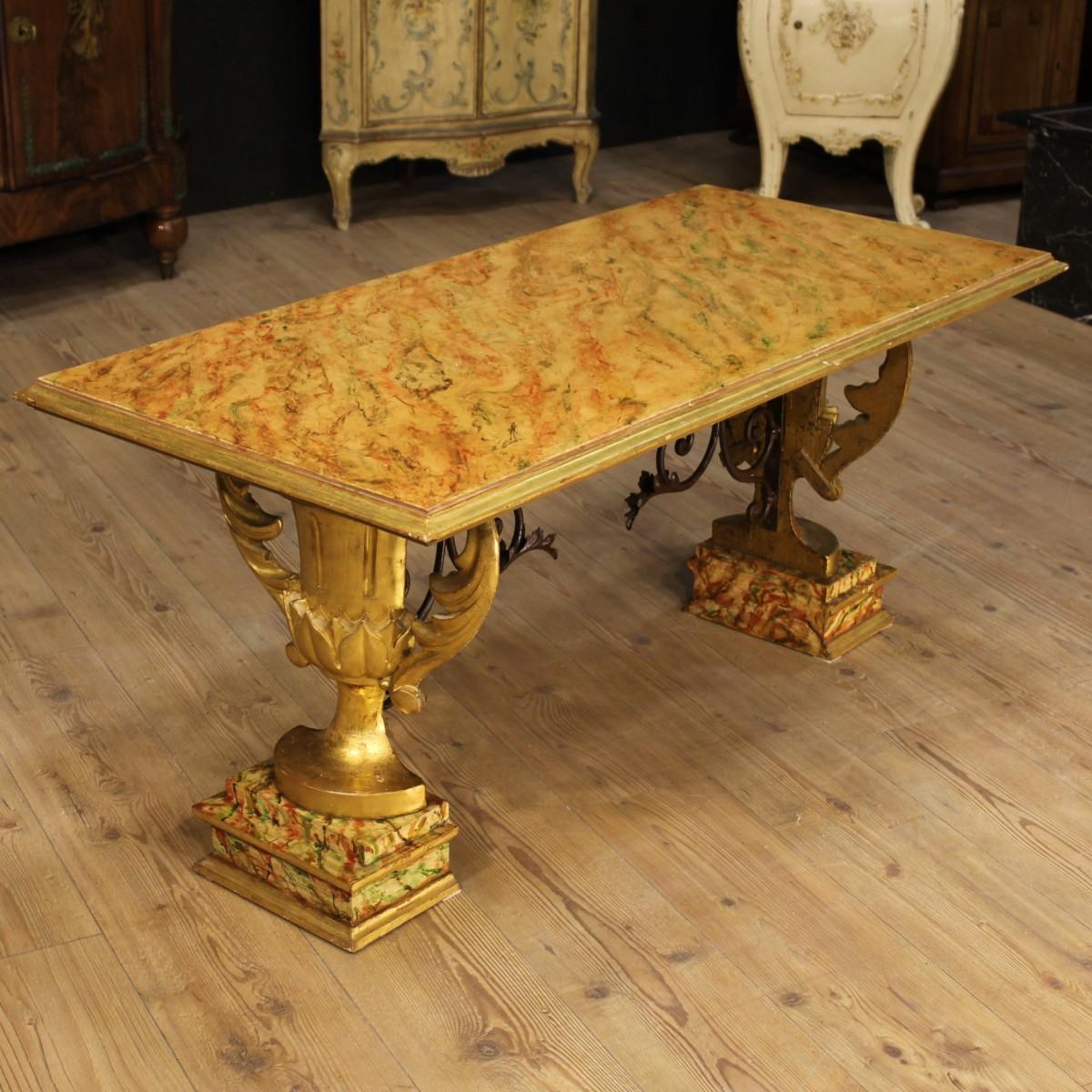 Tavolino da salotto tavolo in legno laccato finto marmo for Legno laccato